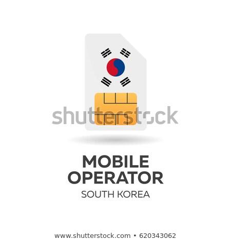 Güney hareketli operatör kart bayrak soyut Stok fotoğraf © Leo_Edition