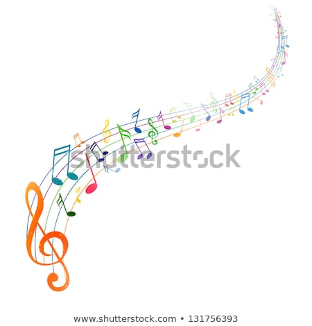 music notes colorful background Stock photo © SArts