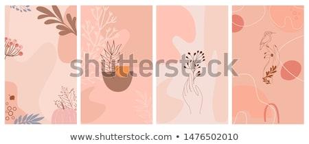 Zdjęcia stock: Roślin · jesienią · zestaw · stylizowany · wektora · drzew