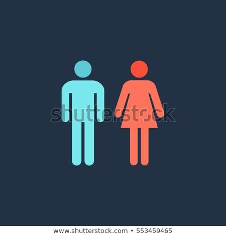 Vrouwelijke geslacht icon teken vector geïsoleerd Stockfoto © smoki