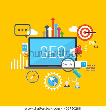 Seo optymalizacja laptop ekranu Zdjęcia stock © tashatuvango