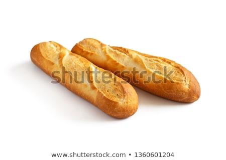 Fraîches mini baguettes ensemble blanche Photo stock © Digifoodstock