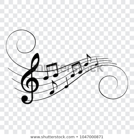 Musical staves vector illustration with music notes and symbols Stock photo © m_pavlov