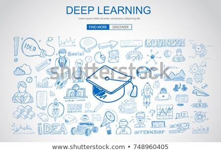 Сток-фото: глубокий · обучения · бизнеса · болван · дизайна · стиль