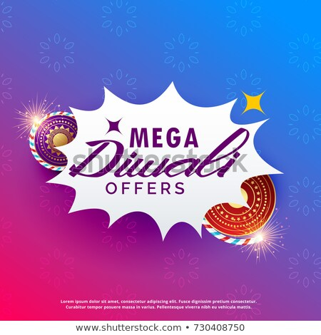 diwali sale background with crackers vibrant background stock photo © sarts