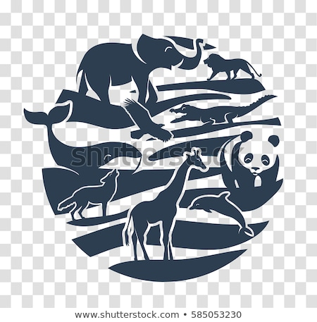 animals icon in the form of a circle  Stock photo © Olena