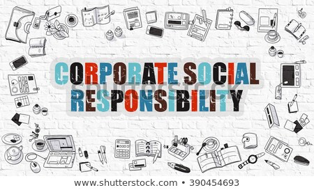 corporate social responsibility in multicolor doodle design stock photo © tashatuvango