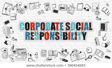 Korporacyjnych społecznej odpowiedzialność gryzmolić projektu Zdjęcia stock © tashatuvango