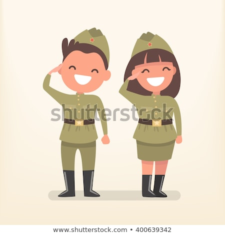 russo · soldado · quadro · ilustração · isolado - foto stock © orensila