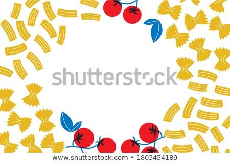 Fronteira modelo diferente frutos do mar ilustração peixe Foto stock © bluering
