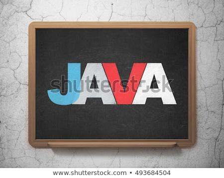 database on black chalkboard 3d rendering stock photo © tashatuvango