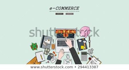 E-Commerce Optimization Concept with Doodle Design Icons. Stock photo © tashatuvango