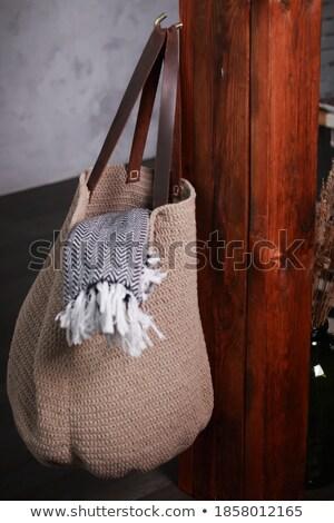 Meleg ruházat táska akasztás kampó közelkép Stock fotó © wavebreak_media
