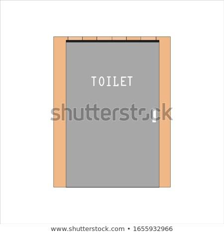 Biyo ahşap açık tuvalet vektör örnek Stok fotoğraf © konturvid