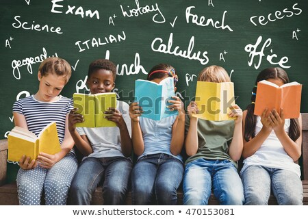 green chalkboard with hand drawn learn french stock photo © tashatuvango