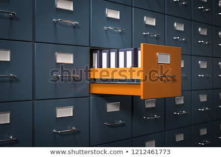Card File Secret. 3D. Stock photo © tashatuvango