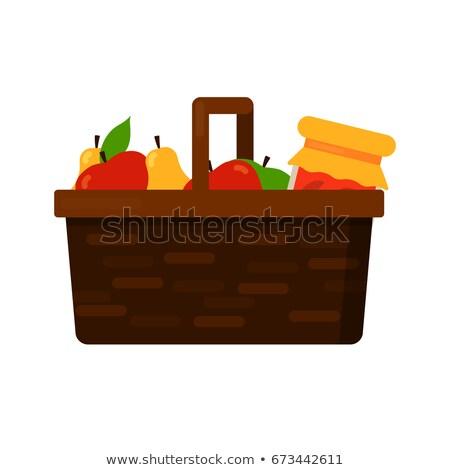 csoport · érett · almák · fa · kész · aratás - stock fotó © is2