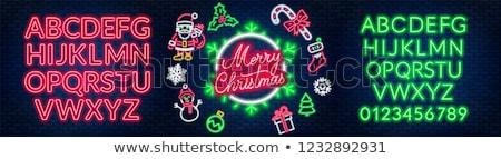 веселый · Рождества · золото · зеленый · зима · звездой - Сток-фото © articular