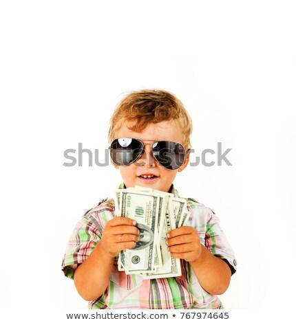 hand · dollar · geïsoleerd · groene · bank · dollar - stockfoto © iordani