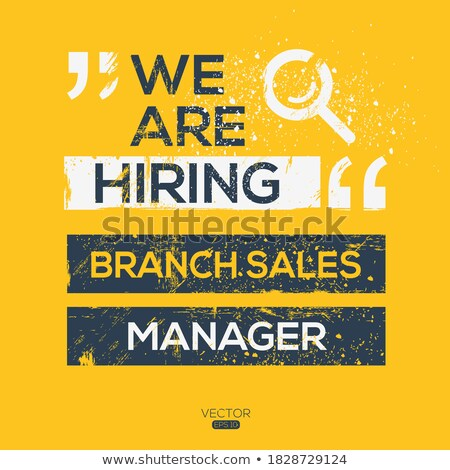 Stock photo: E-Commerce Manager Job Vacancy.