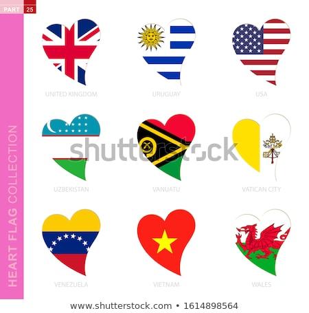 Verenigd Koninkrijk hart vaderlandslievend symbool komische cartoon Stockfoto © rogistok