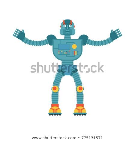Robot mutlu cyborg neşeli duygular Stok fotoğraf © popaukropa
