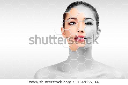 красивая женщина лице уход за кожей аннотация расплывчатый Сток-фото © Nobilior