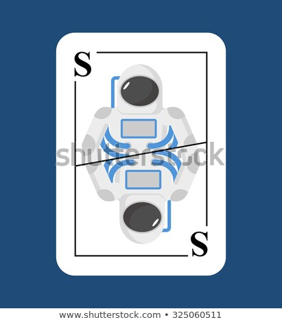 Playing card Spaceman  Conceptual new card astronaut. Cosmonaut. Stock photo © popaukropa