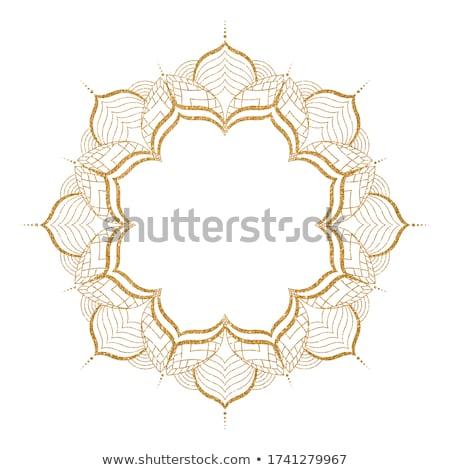 Etnik beyaz mandala dekorasyon yoga Asya Stok fotoğraf © SArts