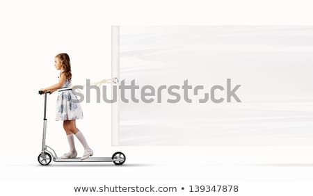 Kid Girl Pull Board Stock photo © lenm