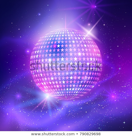 Disco ball on ultraviolet outer space background Stock photo © Sonya_illustrations