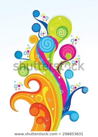 abstract artistic creative rainbow circle explode Stock photo © pathakdesigner