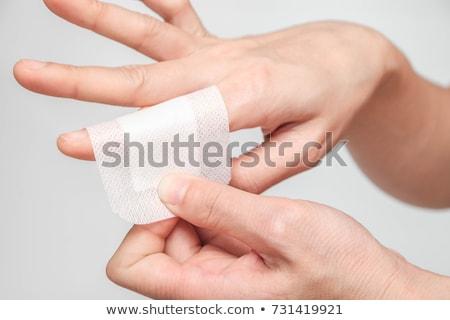 gesso · feminino · dedo · adesivo · bandagem - foto stock © CsDeli