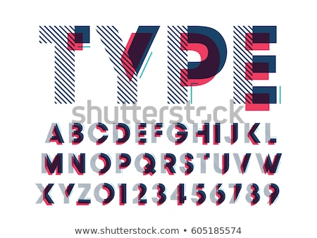 set of letter geometric logo vector Stock photo © krustovin