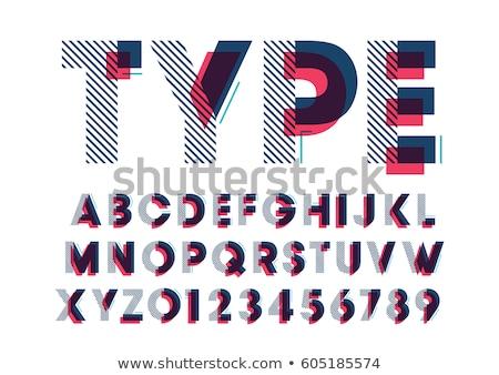 set of letter geometric logo vector Stock photo © krustovin