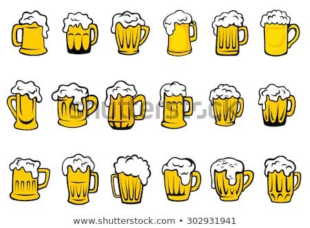 Stockfoto: Bier · geïsoleerd · icon · cartoon · stijl · brouwerij