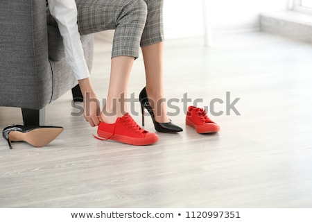 Girls changing shoes Stock photo © IS2
