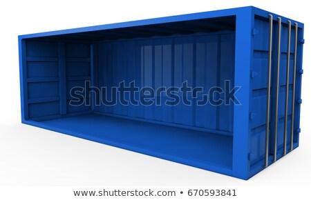 Ilustração 3d recipiente isolado metal indústria vermelho Foto stock © anadmist