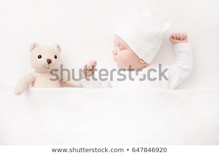 Baba pléd gyermek kék aranyos kaukázusi Stock fotó © IS2