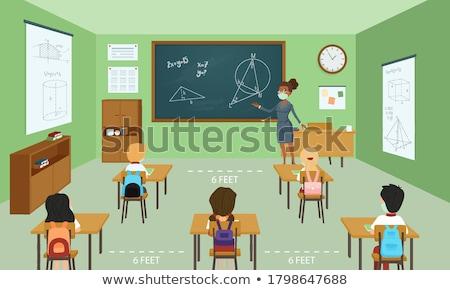 Erkek sınıf okul kalem büro erkek Stok fotoğraf © IS2
