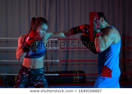 Feminino boxeador kickboxing treinador fitness Foto stock © wavebreak_media