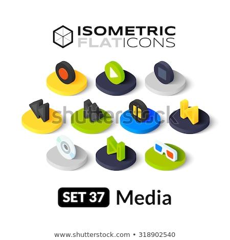 Giocare isometrica icona isolato colore vettore Foto d'archivio © sidmay
