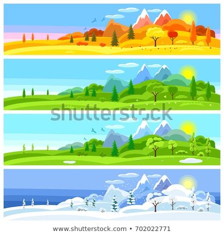 pustyni · dziedzinie · ilustracja · krajobraz · tle - zdjęcia stock © bluering