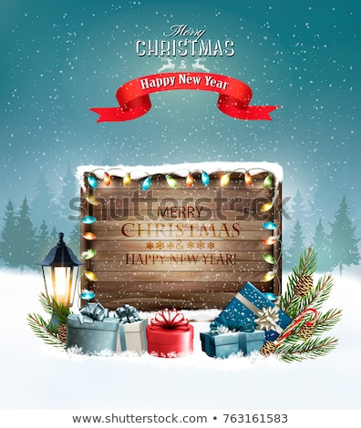 ingericht · christmas · boord · groet · vrolijk - stockfoto © lenm