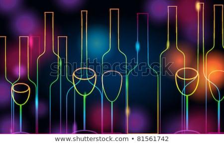 icon dark background cocktail party stock photo © olena