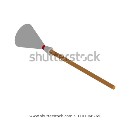witch broom isometric hand wiper besom vector illustration stock photo © popaukropa