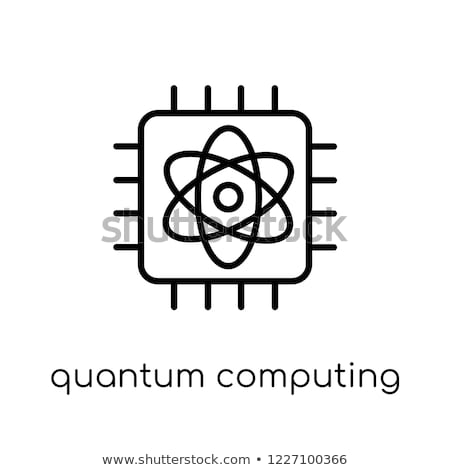 digital vector quantum computing icon stock photo © frimufilms