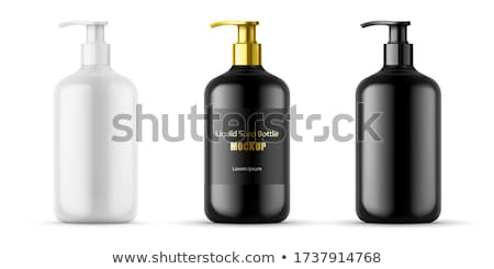 Cosmetics set realistic Vector packaging. Perfume bottle mock up stock photo © frimufilms