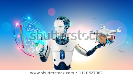 3D humanoide robot paquete futurista androide Foto stock © texelart
