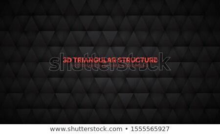 Abstract metalen deeltjes zwarte 3d render illustratie Stockfoto © SmirkDingo